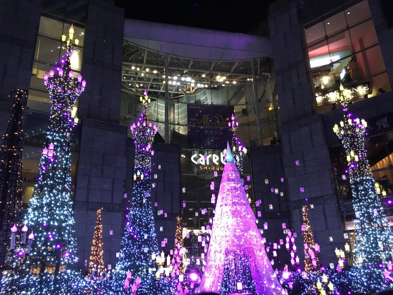 20181226カレッタ汐留・広場の景色4