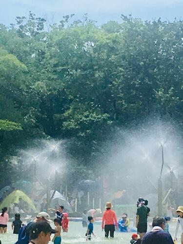 20190822アンデルセン公園にじの噴水