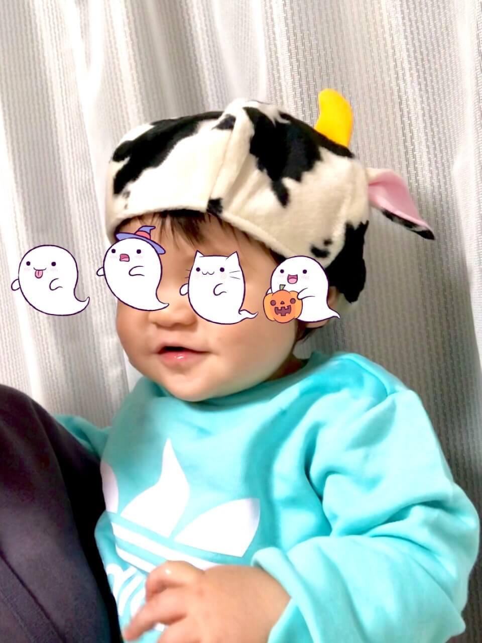 20201101牛さん帽子着画像2