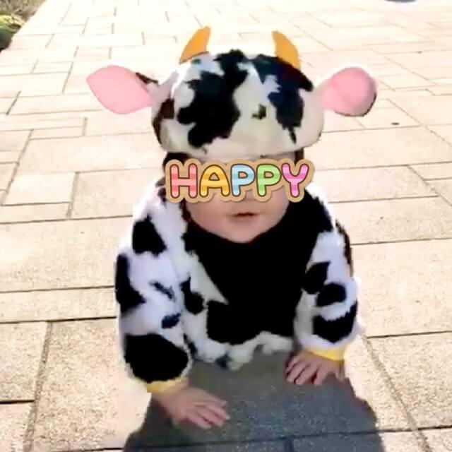 20201128牛さん帽子着画像4