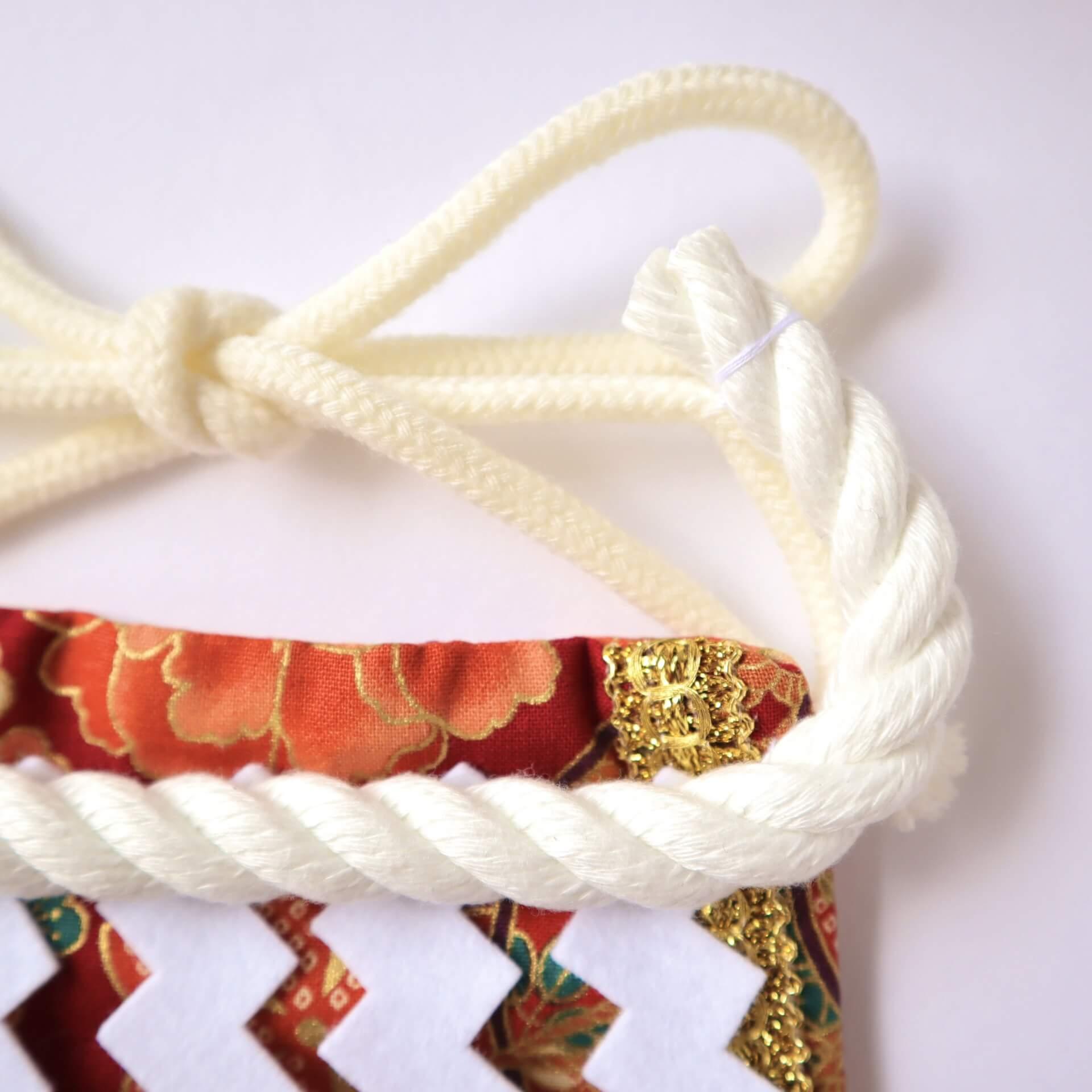 ワンちゃん化粧まわし・飾り綱と結び紐