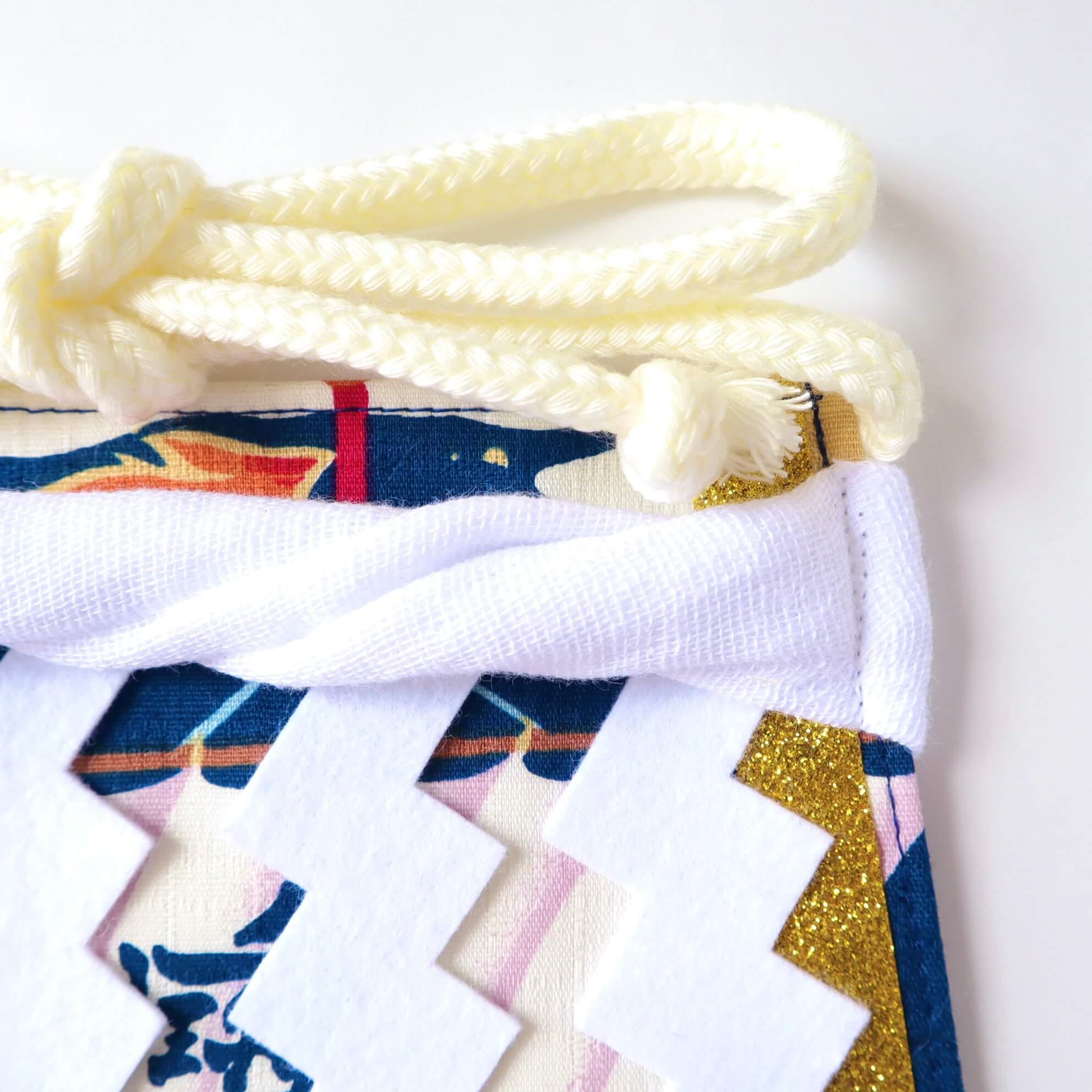 ワンちゃん化粧まわし大・おてごろ飾り綱と結び紐